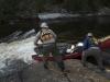 lining-canoe-on-bloodvein-river