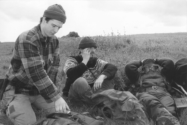 Paul Kirtley, Juha Rankinen and Lawrence Clark, Bushcraft Instructors