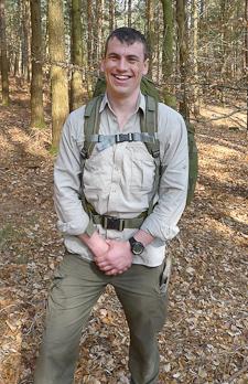 Matt Batham with rucsack