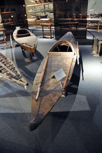 Inuit hunting kayak