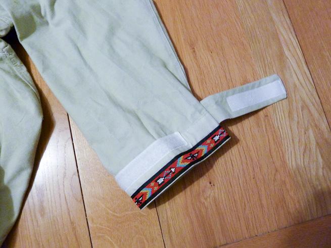 Velcro cuff detail