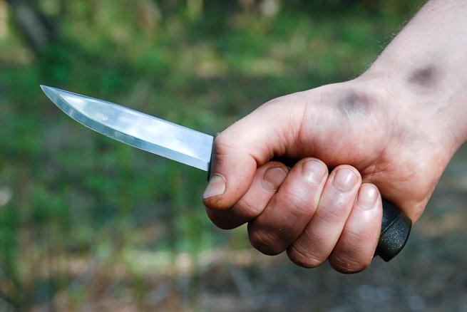 Forehand knife grip
