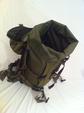 Back pack packed for jungle trekking adventure travel
