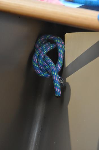 An overhand knot.