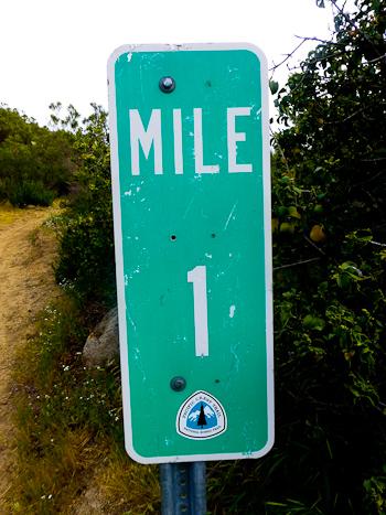 Mile 1 Pacific Crest Trail