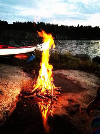 fire lighting on the archipelago