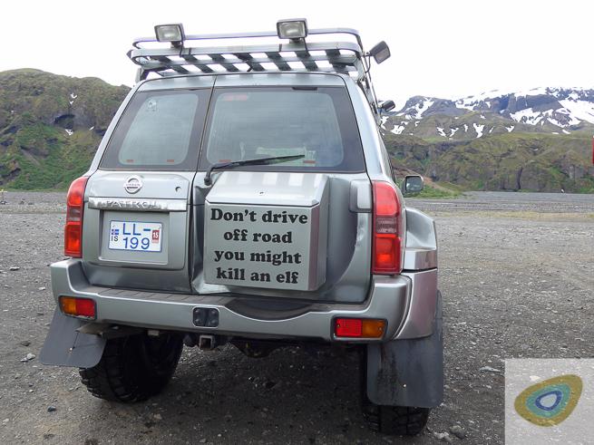 Bumper sticker - Icelandic style.
