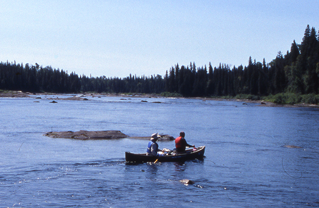 Canoe on the Missinaibi River