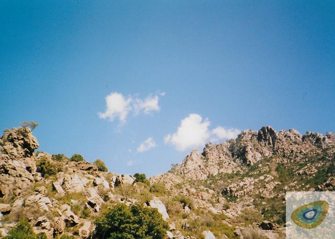 Corsica walking terrain