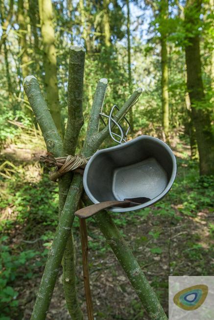 mug on a tripod