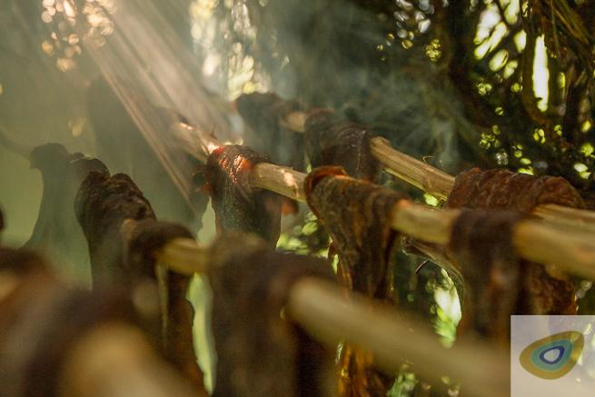 Bushcraft Beef Jerky In The Woods